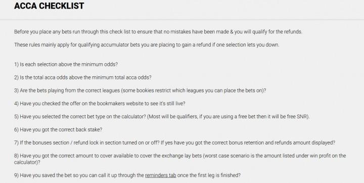Accumulator Generator — Screenshot — Acca Checklist