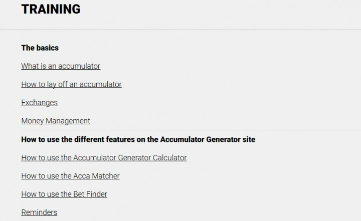 Accumulator Generator — Screenshot — The Training