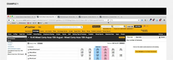 Advantage Play Secrets — Screenshot — Betfair Matched Bettors Exploit Example