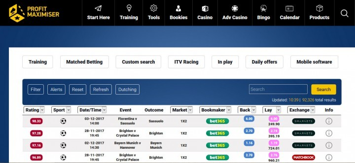 Betting Mastermind — Screenshot — Profit Maximiser
