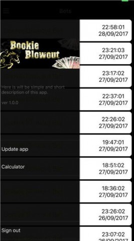 Bookie Blowout — Screenshot — Mobile App