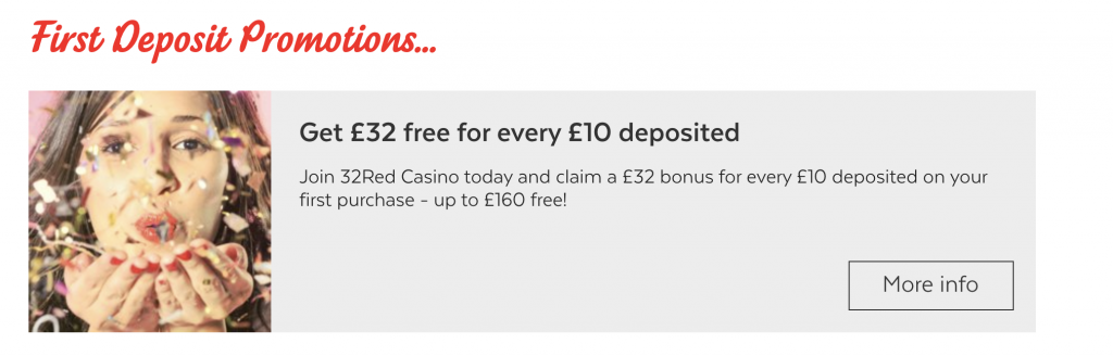 32 Red Casino Bonus