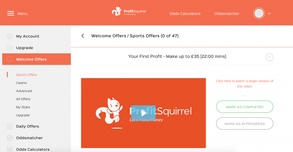 Profit Squirrel members area