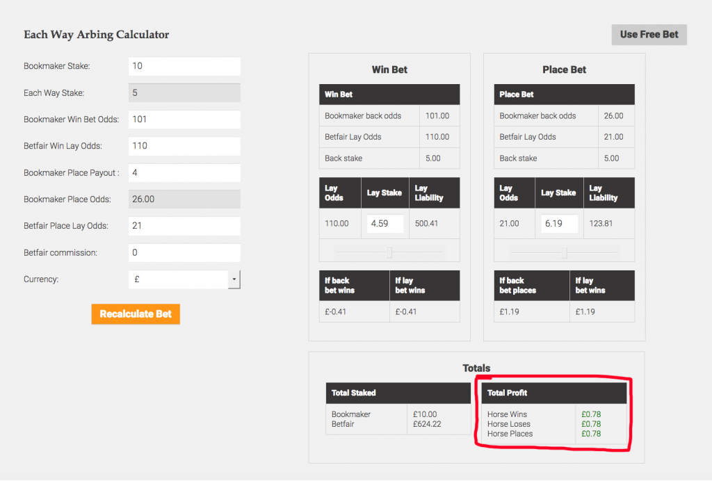 golf betting system calculator