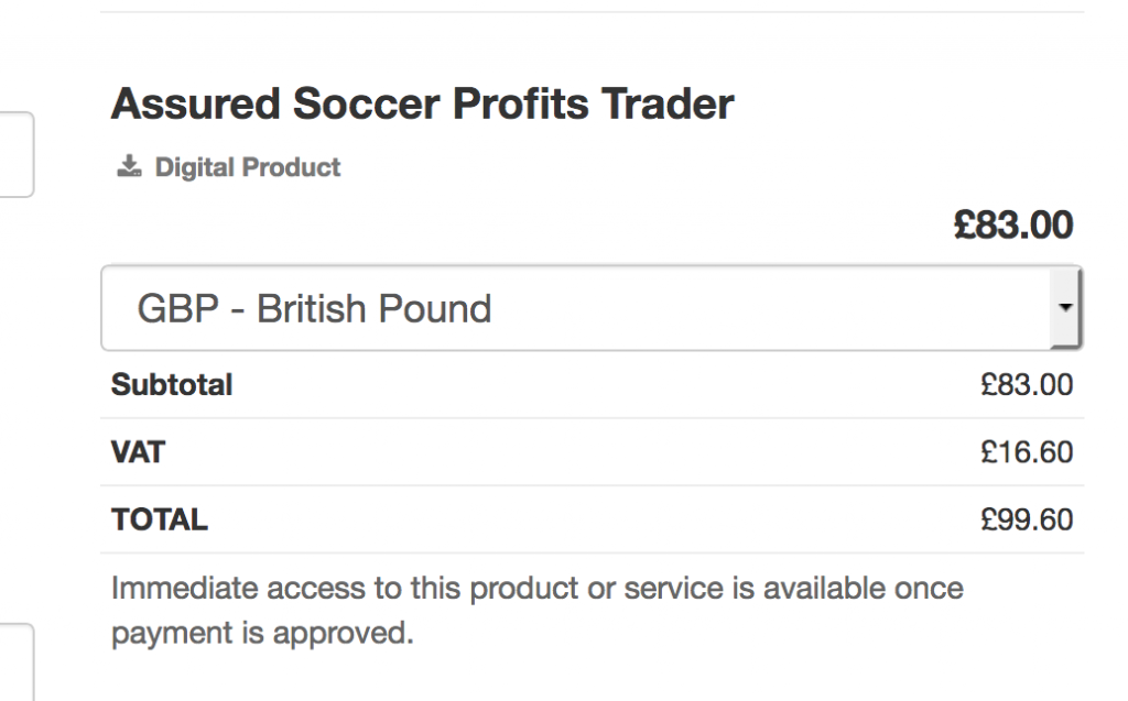 Assured Soccer Profits review cost