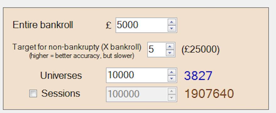 Bonus Chum Bankroll simulations
