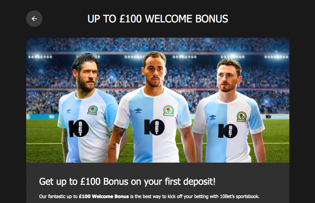 10 Bet welcome bonus