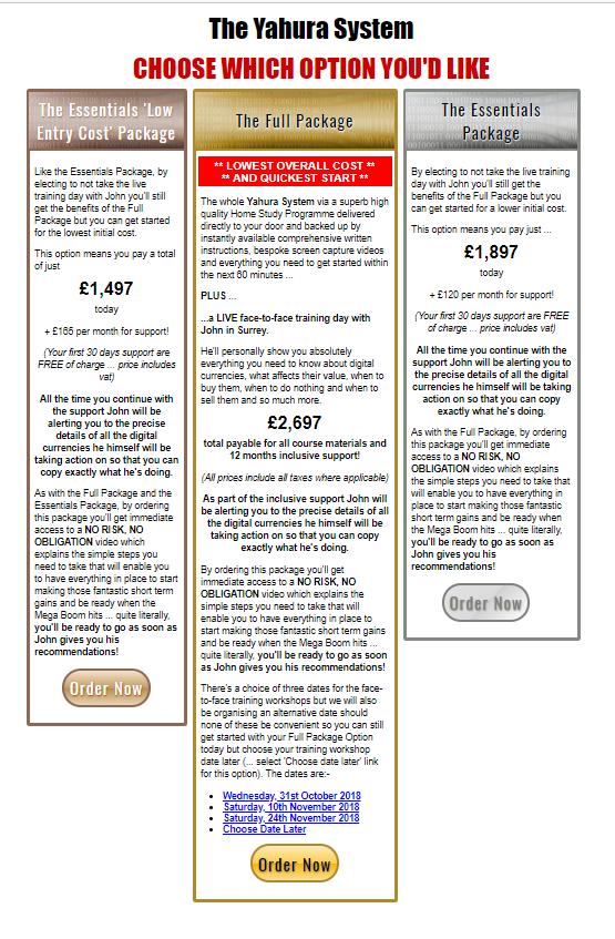 Yahura System Cost