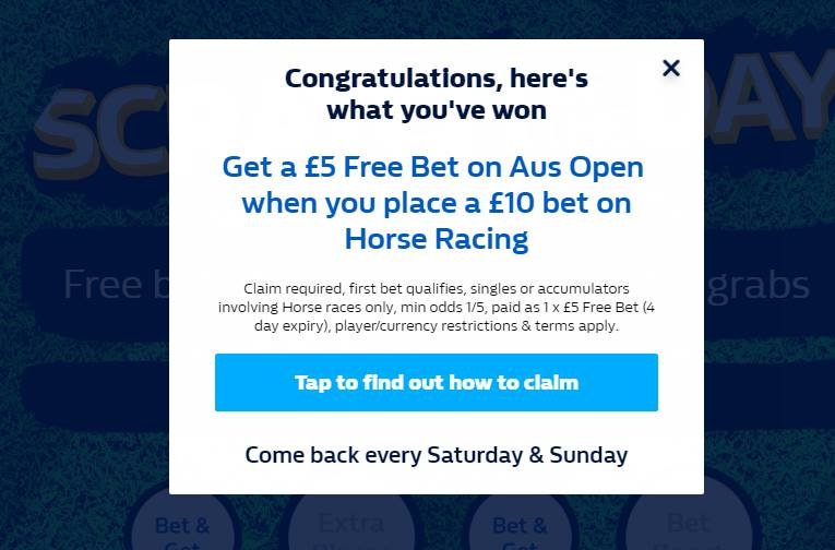 william hill horse racing free bet