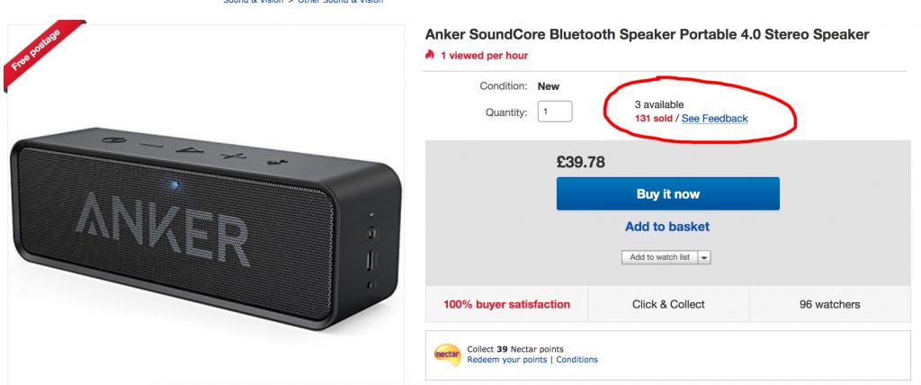 Ebay arbitrage speaker