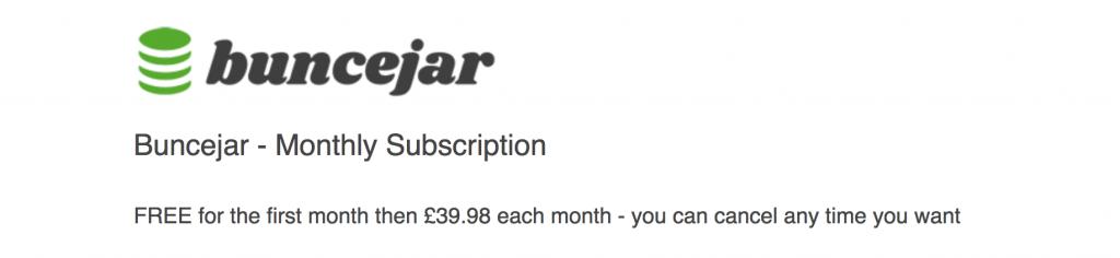 Bunce Jar Cost