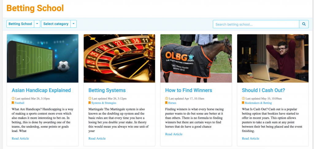 OLBG betting school
