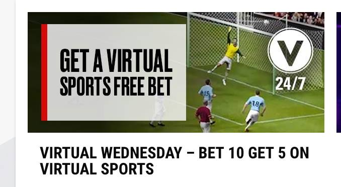 Poker Stars Virtual Sports offer