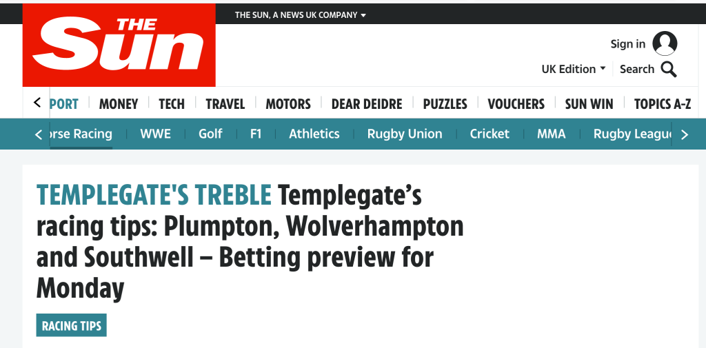 Templegate racing review